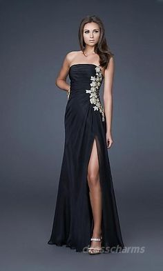 Bria formal dress style--classic, fitted, and with bling