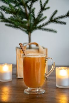 Easy winter holiday cocktail recipe idea - hot mulled cider and spice rum with cinnamon stick garnish. Briar Barn Inn, an inn, restaurant, and spa on ., Check more at. Cocktail Garnish, Cocktail Recipes, Classic Cocktails, Holiday Cocktails, Spiced Rum, Wine List, Winter Holidays, Cinnamon Sticks, Craft Beer