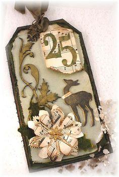 12/6/2012; Lynn Stevens at 'Trash to Treasure Art' blog; Tim's December Tag Challenge