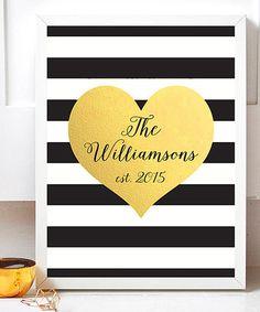 Heart Name Personalized Print #zulily #zulilyfinds