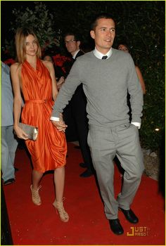 Orlando Bloom and his girlfriend, Victoria's Secret model Miranda Kerr, attend the Hollywood Dominos party presented by Akvinta Vodka held at France's House At Cannes during the 2009 Cannes Film Festival on Monday night (May 18)