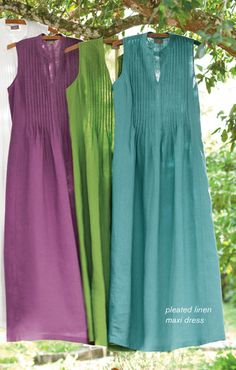 J Jill - pleated linen maxi dress