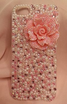 Pink Pearl Crystal Flower case (Available for a variety of phone models) $28.00