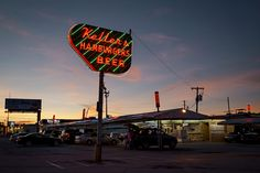 When the sun sets over Keller's Drive-In on Northwest Highway, the neon lights come on. This summer, the Northwest Highway location, one of three, will celebrate its 50th anniversary. (G.J. McCarthy/Staff Photographer)