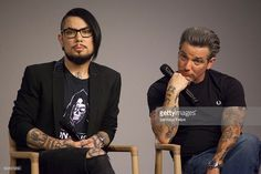 Dave Navarro and Todd Newman attend Apple Store Soho Presents Meet The Filmmaker: Dave Navarro and Todd Newman, 'Mourning Son' at Apple Store Soho on April 19, 2016 in New York City.