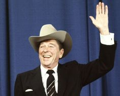 Ronald Reagan gets a new cowboy hat