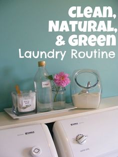 Clean, Natural, and green Laundry-love idea to add splash of vinegar to rinse cycle for more absorbent clothe diapers