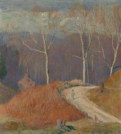 """Sycamore Road,"" 1938, Daniel Garber (1880 - 1958)"