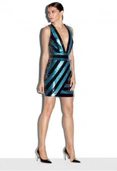 693e99fc66 Milly Exclusive Pailette Stripes Xback Mini Dress Birthday Dresses