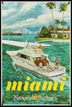 Travel Poster. Miami. 1972.
