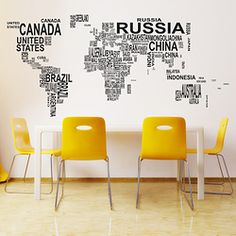 Geometric decals cheekyraskal cheeky raskal wall decals huge world map in text wall decal by cheekyraskal publicscrutiny Images