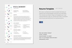 "Resume Template - ""Arcturus"" by Elissa Bernandes on @creativemarket"