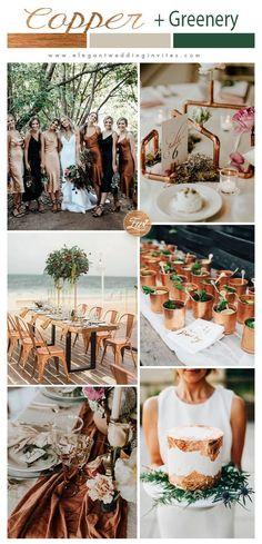 Bronze Wedding Colours, Beach Wedding Colors, Winter Wedding Colors, Metallic Wedding Theme, Champagne Wedding Colors Scheme, Emerald Wedding Theme, Copper Wedding Decor, Fall Wedding Shoes, Rustic Wedding Colors