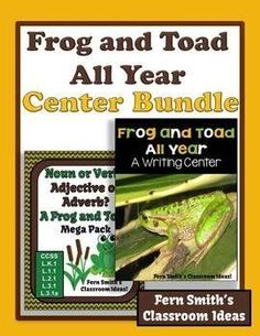 Discounted Bundle of Frog and Toad All Year Resources 1.Frog and Toad All Year Writing Center For Common Core and 2. Noun or Verb Adjective or Adverb A Fantastic Frog and Toad Mega Pack #TPT $paid