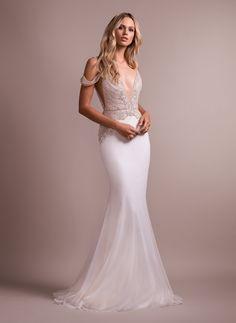 e4a4fd898 Hayley Paige Style 6910 Elton Bridal Gown Long Wedding Dresses