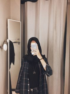 Ideas style hijab remaja gendut for 2020 Modern Hijab Fashion, Street Hijab Fashion, Muslim Fashion, Ootd Fashion, Modest Fashion, Trendy Fashion, Fashion Outfits, Trendy Style, Hijab Casual
