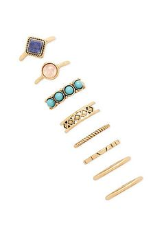 Faux Stone Ring Set | Forever 21 - 1000168217