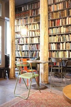 Merci, Paris. Love the books and the metal chairs...