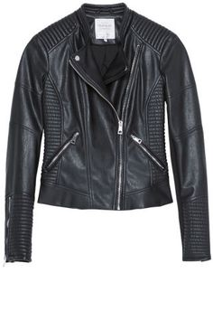 You don't have to have an edgy style to wear Moto Jackets. Zara jacket: