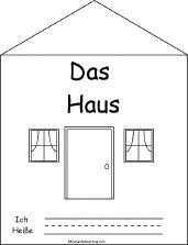 Das Haus (The House), A Printable Book in German - EnchantedLearning.com