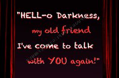 Hello Darkness My Old Friend Goth Quote Art by JenniferRoseGallery, $20.00