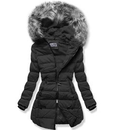 Dámska zimná bunda B9501 čierna - Bundy - MODOVO Winter Jackets, Coats, Fashion, Winter Coats, Moda, Wraps, Winter Vest Outfits, Fashion Styles, Coat