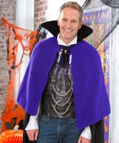 Vampire Cape Crochet Pattern./ thinking could be any kinda cape - for the boys