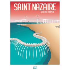Art Deco Posters, Vintage Posters, St Nazaire, All Poster, Movie Posters, Saint, Loire, Retro, Illustrations