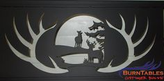 Buck and Doe metal wall hanging scene.  #buck #doe #deer #wildlife #metal #art #steel #wall