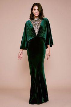 Tadashi Shoji Beaded Illusion Plunging V Neck Capelet Gown fitnees inspiration Velvet Evening Gown, Velvet Gown, Evening Dresses, Afternoon Dresses, Flapper Dresses, Shrug For Dresses, Dress Up, Elegant Dresses, Pretty Dresses