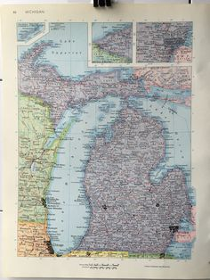 Vintage 1967 rand mcnally world atlas map page italy on one side vintage 1967 rand mcnally world atlas map page massachusetts on one side and michigan on the other side gumiabroncs Gallery