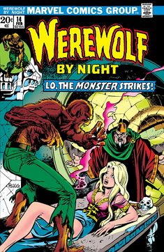 Featured Characters: Werewolf (Jack Russell) Supporting Characters: Topaz Lissa Russell Philip Russell Antagonists: Taboo (Death) Algon (Death) Other Characters: The Committee Striker Locations: California Los Angeles Topaz sides with Jack against Taboo, who responds by using the Skull of Daimon to take direct control of her soul and complete the spell to give Algon the power of transmutation. Algon fights the Werewolf, turning everything he touches to gold, accidentally causing the death of ... Comic Book Characters, Marvel Characters, Comic Character, Comic Books Art, Comic Art, Old Comics, Vintage Comics, Marvel Comics Superheroes, Film D'animation