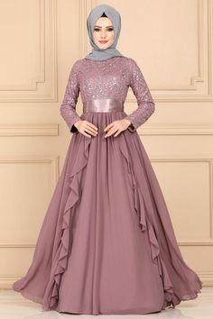 Modaselvim ABİYE Fırfırlı Pul Payet Abiye ECH7307 Pudra Hijab Gown, Hijab Evening Dress, Hijab Dress Party, Long Gown Dress, Evening Dresses, Modest Fashion Hijab, Frock Fashion, Fashion Dresses, Dress Muslim Modern