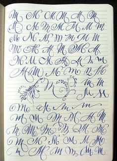 Majuscule M variants by Polish calligrapher Barbara Galinska on Behance