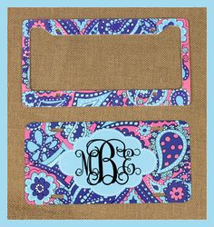 Gift Set Front License Plate  License Plate Frame by ChicMonogram, $50.00