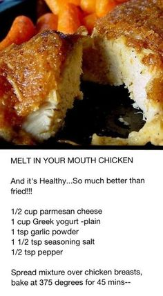 Melt In Your Mouth Chicken ~ And it's Healthy.... So Much Better Than Fried.