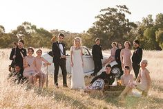 Love this editorial bridal party shot! 1920s style bridesmaid dresses | photo by Bayly and Moore | 100 Layer Cake