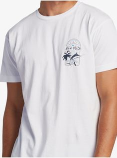 quiksilver, Salt Water Slave Miami T-Shirt for Men, WHITE (wbb0) Salt And Water, Miami, Mens Fashion, Tees, Cotton, Mens Tops, T Shirt, Moda Masculina, Supreme T Shirt