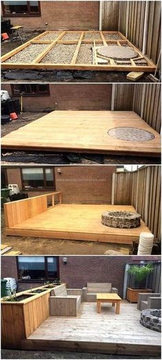 Plans of Woodworking Diy Projects - wood pallet terrace ideas 7 Get A Lifetime Of Project Ideas & Inspiration! Backyard Projects, Diy Pallet Projects, Outdoor Projects, Backyard Patio, Backyard Landscaping, Home Projects, Pallet Ideas, Backyard Ideas, Pergola Ideas