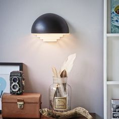Moton Vegglampe, Sort, Herstal
