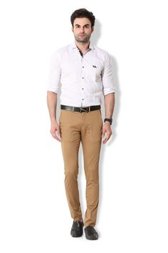 Give yourself an ultra-modern casual look with these khakhi coloured chino pants from KOZZAK. Mens Chino Pants, Khaki Pants, Casual Looks, Amazon, Modern, Color, Fashion, Moda, Khakis
