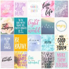 Today's free printable is a set of free motivational printable planner stickers. These stickers are