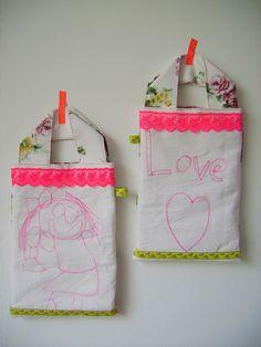 tekening naaien op tas  maarnietvangrijs