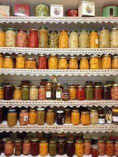 Canning food fruit preserves Fruit Preserves, South African Recipes, Canning Recipes, Vegetables, Kitchen Walls, Afrikaans, Food, Dancing, Nostalgia