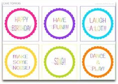 Free Printable Rainbow Party | Party Ideas And Planning | CraftGossip.com
