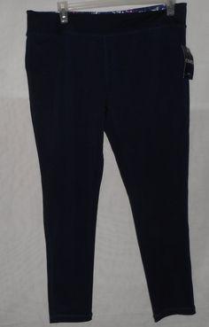 NEW Chaps Womens Sports Athletic Gym Navy Capri Leggings XL NWT #ChapsSport #PantsTightsLeggings