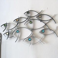 Fish Decor For Walls abstract scrap metal sculpture fish | metals, on and fish