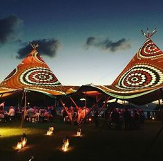 Australian theme, tee pi , candles, lanterns, qualia resort