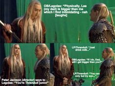 Tolkien, Orlando Bloom Legolas, Lee Pace, Thranduil, Good Good Father, Hilarious, Funny, Father And Son, Middle Earth
