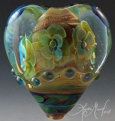 """Eternity Heart 1"", focal bead, made by ""the master of beads"" Lydia Muell"